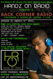 BACK CORNER RADIO [EPISODE #03] w/ RALF GUM [MARCH 15. 2012]