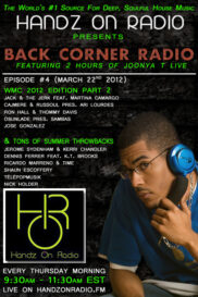 BACK CORNER RADIO [EPISODE #04] #ThrowBackThursday [MARCH 22. 2012]