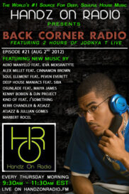 BACK CORNER RADIO  [EPISODE #21] AUG 2. 2012