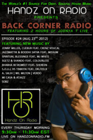 BACK CORNER RADIO [EPISODE #24] AUG 23. 2012