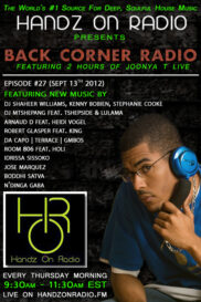 BACK CORNER RADIO [EPISODE #27] SEPT 13. 2012