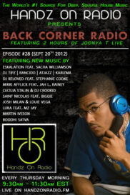 BACK CORNER RADIO [EPISODE #28] SEPT 20. 2012