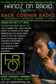 BACK CORNER RADIO [EPISODE #31] OCT 11. 2012