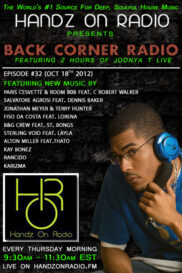 BACK CORNER RADIO [EPISODE #32] OCT 18. 2012