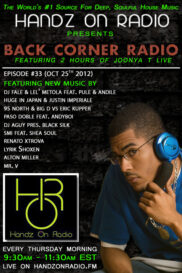 BACK CORNER RADIO [EPISODE #33] OCT 25. 2012