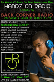 BACK CORNER RADIO [EPISODE #34] NOV 1. 2012