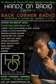 BACK CORNER RADIO [EPISODE #35] NOV 8. 2012