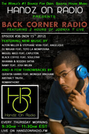 BACK CORNER RADIO [EPISODE #36] #ThrowBackThursday [NOV 15. 2012]