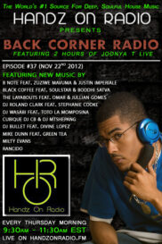 BACK CORNER RADIO [EPISODE #37] NOV 22. 2012