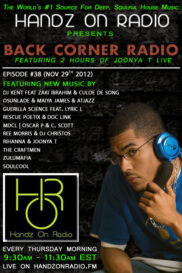 BACK CORNER RADIO [EPISODE #38] NOV 29. 2012