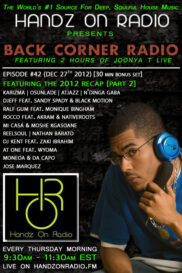BACK CORNER RADIO [EPISODE #42] DEC 27. 2012 (2012 RECAP PART 2)