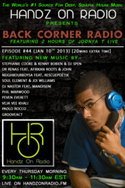 BACK CORNER RADIO [EPISODE #44] JAN 10. 2013