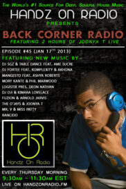 BACK CORNER RADIO [EPISODE #45] JAN 17. 2013