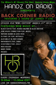 BACK CORNER RADIO [EPISODE #54] MARCH 21. 2013