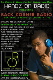 BACK CORNER RADIO [EPISODE #55] MARCH 28. 2013