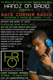 BACK CORNER RADIO [EPISODE #56] APRIL 4. 2013