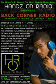 BACK CORNER RADIO [EPISODE #57] APRIL 11. 2013