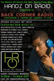 BACK CORNER RADIO [EPISODE #71] JULY 18. 2013