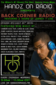 BACK CORNER RADIO[EPISODE #72] JULY 25. 2013