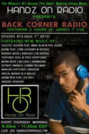 BACK CORNER RADIO [EPISODE #73] [AUG 1. 2013]