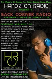 BACK CORNER RADIO [EPISODE #77] AUG 29. 2013