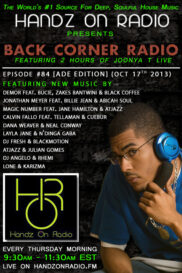 BACK CORNER RADIO [EPISODE #84] OCT 17. 2013 (ADE EDITION)