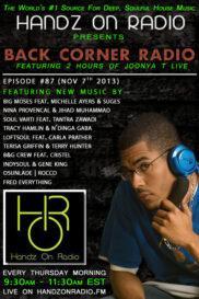 BACK CORNER RADIO [EPISODE #87] NOV 7. 2013