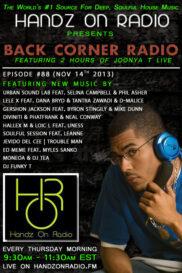 BACK CORNER RADIO [EPISODE #88] NOV 14. 2013