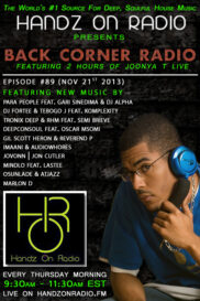 BACK CORNER RADIO [EPISODE #89] NOV 21. 2013