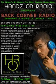 BACK CORNER RADIO [EPISODE #90] NOV 28. 2013