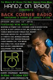 BACK CORNER RADIO [EPISODE #92] DEC 12. 2013
