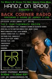 BACK CORNER RADIO [Episode #105] MARCH 13. 2014 (2YR ANNIVERSARY)