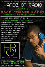 BACK CORNER RADIO [EPISODE #130] #ThrowBackThursday [SEPT 4. 2014]