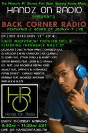 BACK CORNER RADIO [EPISODE #140]  w/TORTURED SOUL [NOV 13. 2014]