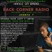 BACK CORNER RADIO [EPISODE #234] SEPT 1. 2016